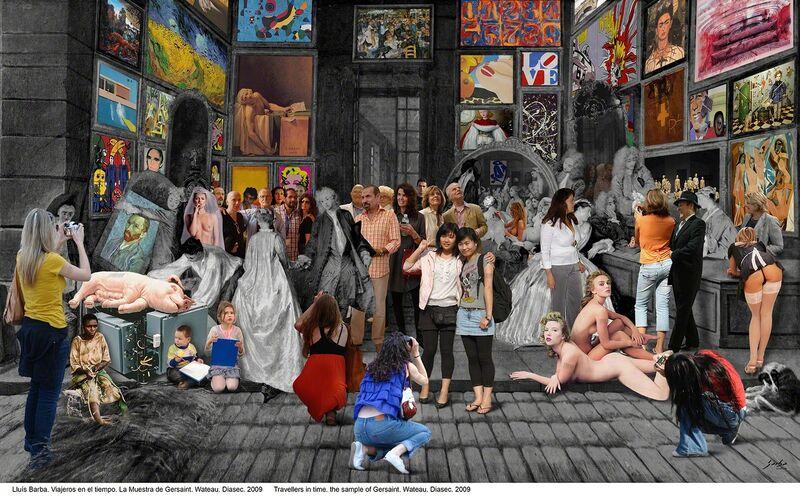 Lluis Barba, 'Gersait sample. Watteau', 2009, Photography, Diasec, Galeria Contrast