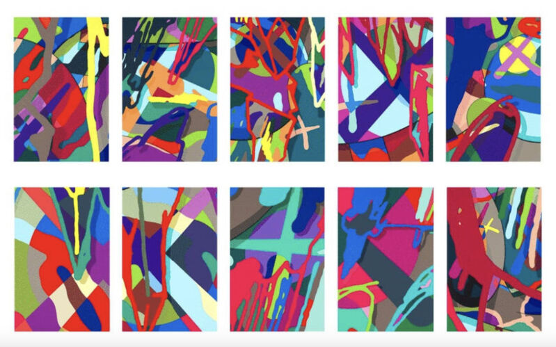 KAWS, 'Tension', 2019, Print, The complete set of 10 screenprints in colors, Upsilon Gallery