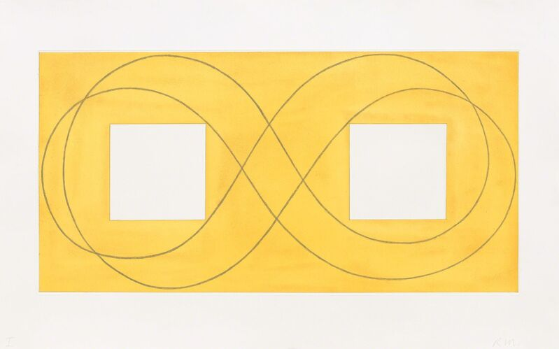 Robert Mangold (b. 1937), 'Double Square Frame I', 2015, Print, Etching, Pace Prints