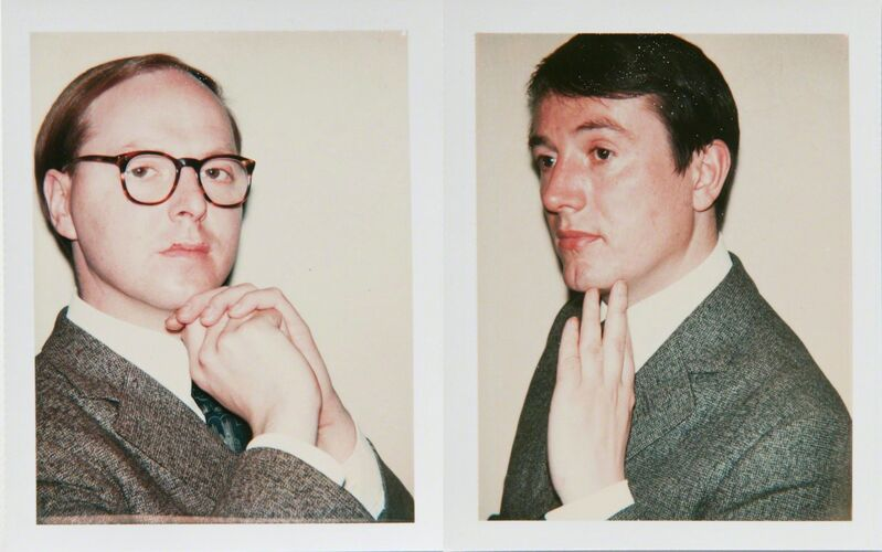Andy Warhol, 'Andy Warhol Polaroids, Gilbert and George Diptych, 1975', 1975, Photography, Polaroid, Hedges Projects