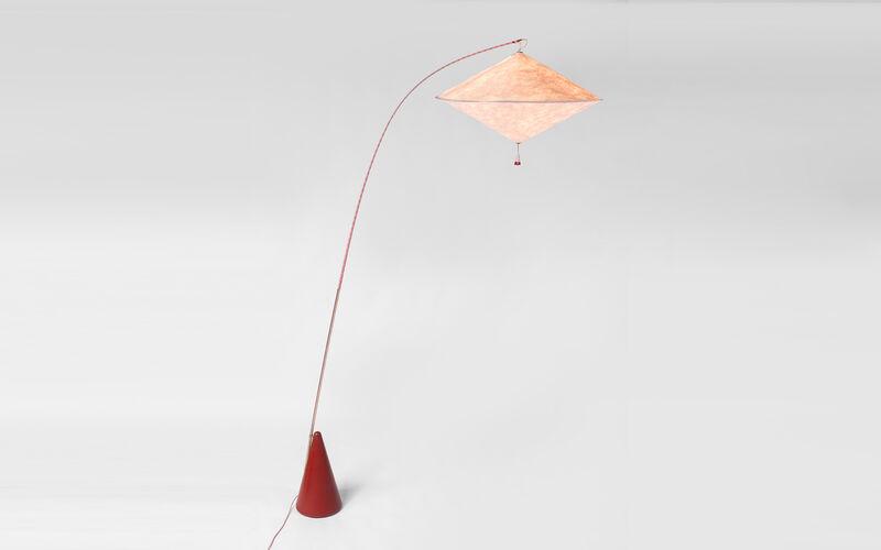 Studio Wieki Somers, 'Aoyama lamp', 2013, Design/Decorative Art, Tyvek screenprint, fibre glass, anodised aluminium, polyester, concrete, brass, LED, Galerie kreo