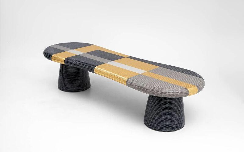 Alessandro Mendini, 'Orvieto bench', 2014, Design/Decorative Art, Fiber glass and mosaic by Bisazza, Galerie kreo