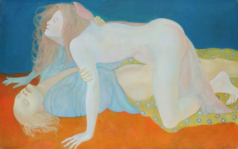 Leonor Fini, 'Les Aveugles', 1968, Painting, Oil on canvas, Weinstein Gallery