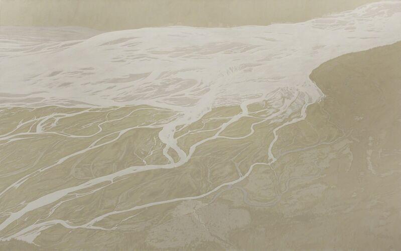 Leslie Reid, 'Kaskawulsh II 60°41'N; 137°53'W', 2014, Painting, Oil and graphite on canvas, LarocheJoncas