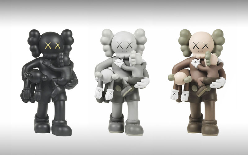KAWS, 'Clean Slate (Black, Grey & Brown)', 2018, Sculpture, Three painted cast vinyl collectables, Tate Ward Auctions