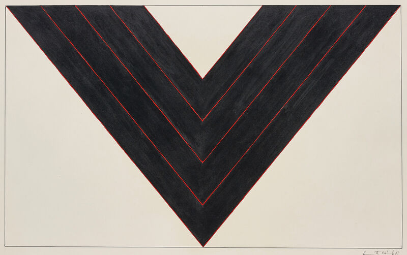 Kenneth Noland, 'American Black', 1987, Drawing, Collage or other Work on Paper, Acrylic, pen and graphite on paper, Phillips