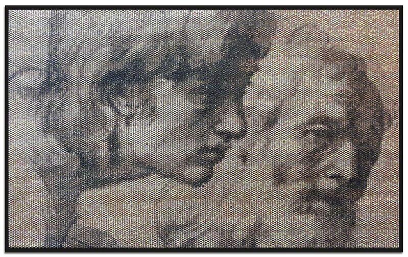 Bradley Hart, 'Raphael Drawing (Injection)', 2014, Painting, Acrylic, bubble wrap, Anna Zorina Gallery