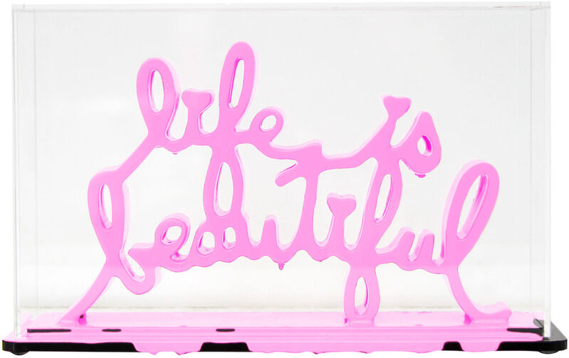 Mr. Brainwash, 'Life Is Beautiful - Dipped Bubblegum', 2020, Sculpture, Acrylic dipped cast resin sculpture in plexiglass enclosure, Taglialatella Galleries