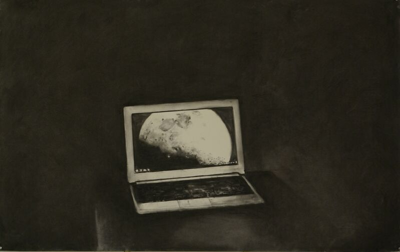 Jasper Hagenaar, 'Moonsaver', 2013, Painting, Charcoal on paper (framed), Jeanine Hofland