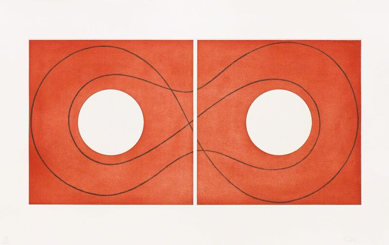 Robert Mangold (b. 1937), 'Double Square Frame II', 2015, Print, Etching, Pace Prints
