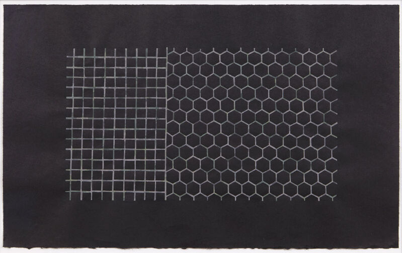 Julia Fish, 'Study after Entry (fragment One)Armature', 1998, Drawing, Collage or other Work on Paper, Gouache on black yamato paper, David Nolan Gallery