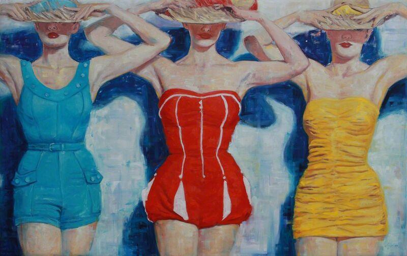 Angel Peychinov, 'Die drei Grazien', 2019 , Painting, Oil on canvas, Galerie Barbara von Stechow