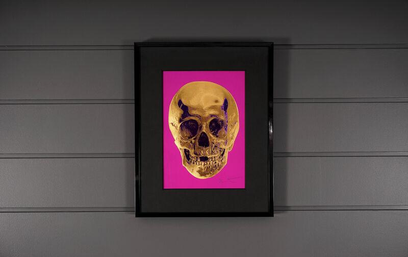 Damien Hirst, ''Till Death Do Us Part Skull, Fuchsia/Gold ', 2012, Print, Silkscreen, Foil-block, Glaze, Arton Contemporary