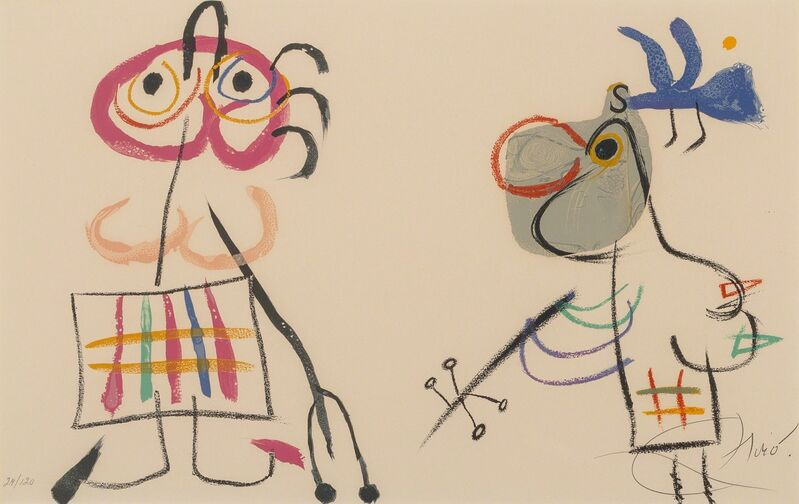Joan Miró, 'Untitled, from L'Enfance D'Ubu', 1975, Print, Lithograph in colors on wove paper, Heritage Auctions