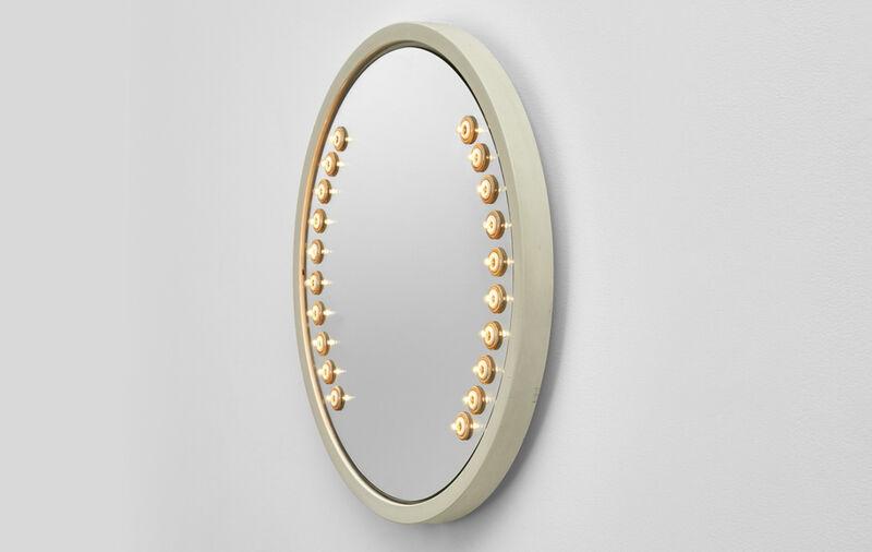Gino Sarfatti, '51/b (White)', 1971, Design/Decorative Art, White lacquered aluminum and mirror, Galerie kreo