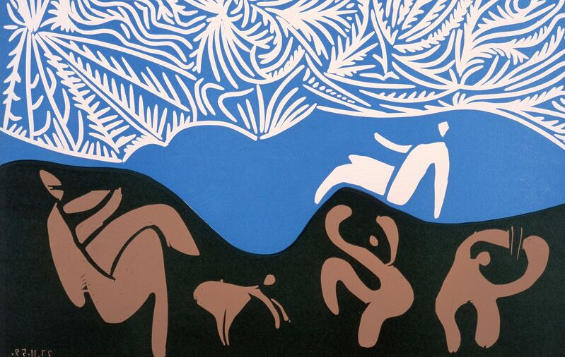 Pablo Picasso, 'Bacchanale au Hibou', 1959, Print, Linocuts printed in colours, Frederick Mulder