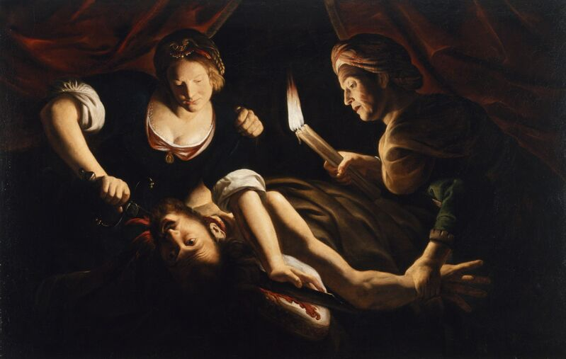 Trophime Bigot, 'Judith Cutting Off the Head of Holofernes', ca. 1640, Painting, Oil on Panel, Walters Art Museum