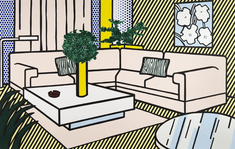 Roy Lichtenstein, 'Yellow Vase ', 1990, Print, Lithograph, woodcut, and screenprint on museum board, Ronald Feldman Gallery