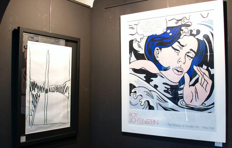 "Roy Lichtenstein, '""Drowning Girl"" MOMA | Affiche', 1989, Ephemera or Merchandise, Screenprint on paper, RestelliArtCo."
