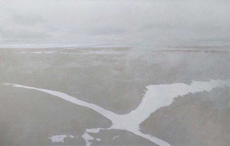 Leslie Reid, 'Resolute I (Cornwallis Island) 74°44'N; 94°38'W', 2015, Painting, Oil and graphite on canvas, LarocheJoncas