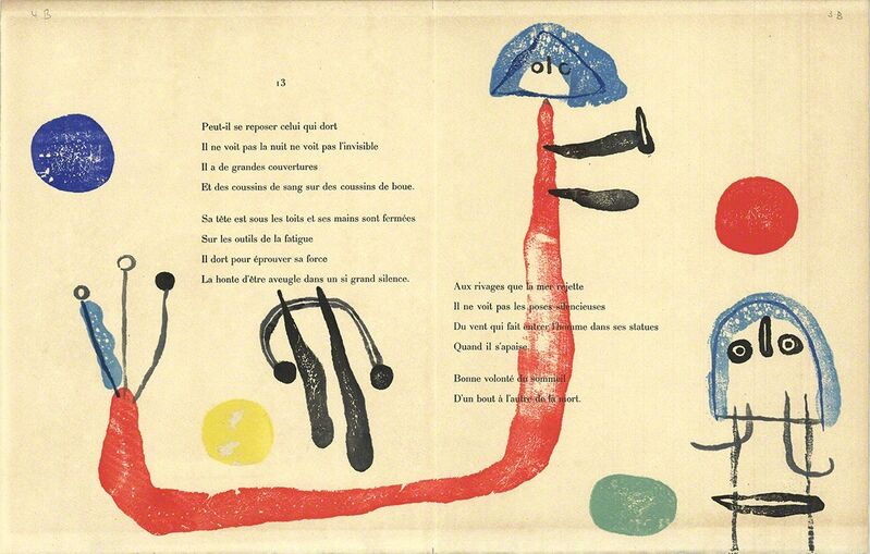 Joan Miró, 'A Toute Epreuve', 1958, Print, Woodblock, ArtWise