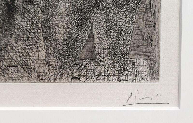 Pablo Picasso, 'Modele et Grande Sculpture de Dos from La Suite Vollard (Bloch 186)', 1933, Print, Etching, RoGallery Gallery Auction
