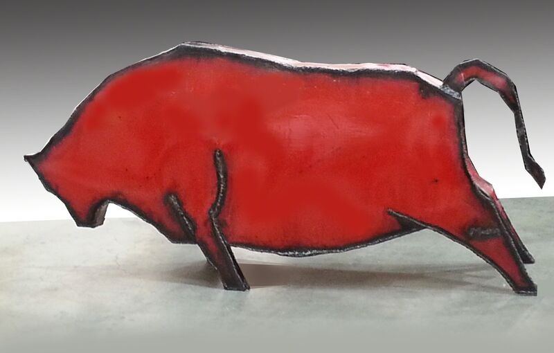 Insoo Moon, 'Red  Ox', 2016, Sculpture, Steel on painting, E. Jung Gallery
