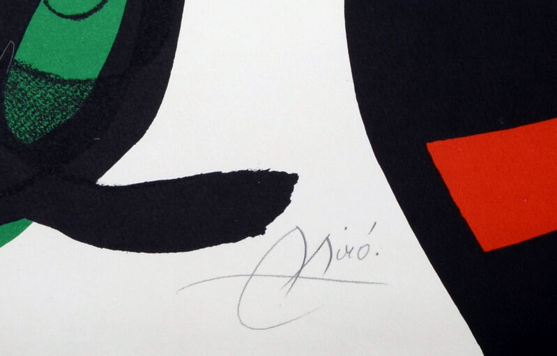 Joan Miró, 'Oda à Joan Miro, ', 1973, Print, Original Lithograph in Colors, NCAG