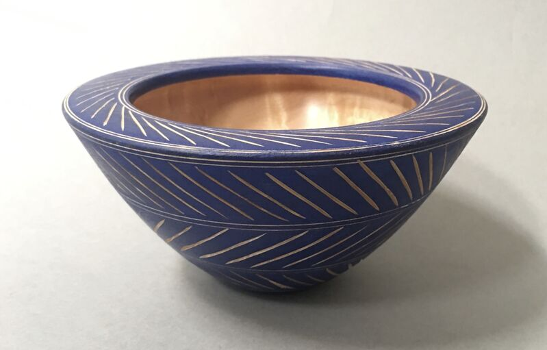 Alan Stirt, 'Untitled Bowl', ca. 1990, Design/Decorative Art, Birdseye Maple and paint, Beatrice Wood Center for the Arts