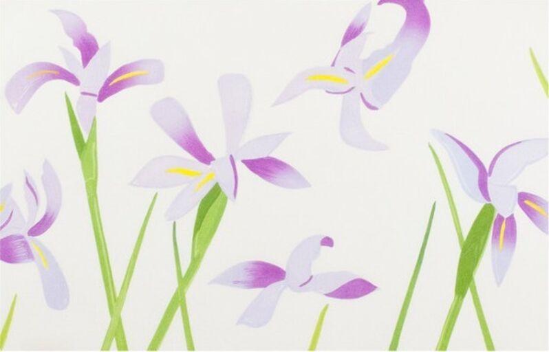 Alex Katz, 'Blue Flags (Irises)', 2014, Print, Japanese woodblock print, Caviar20