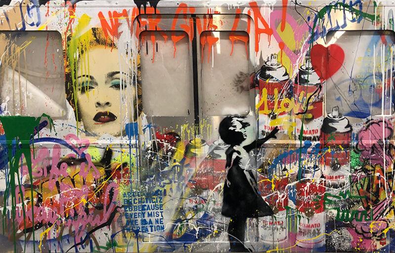 Mr. Brainwash, 'Subway', 2020, Mixed Media, Mixed Media on Aluminum, Plywood, and Plexiglass, Contessa Gallery