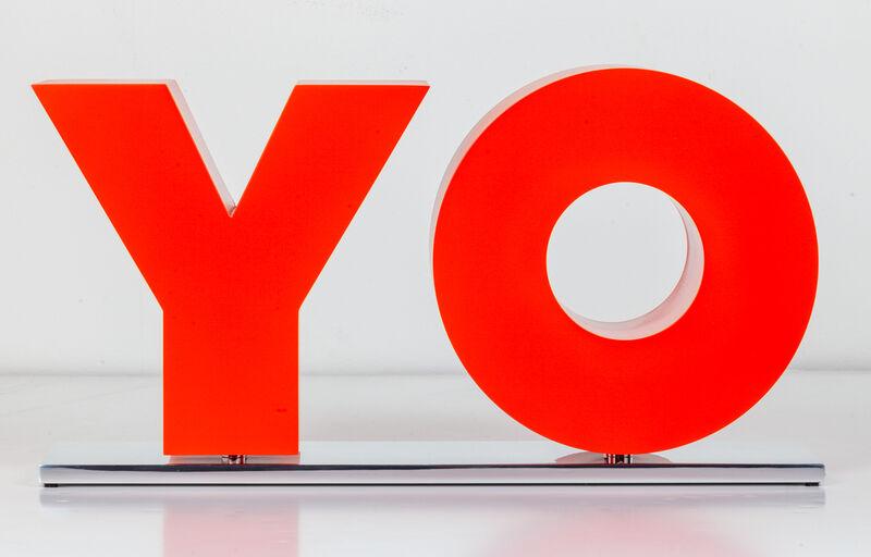 Deborah Kass, 'OY/YO', 2013, Sculpture, Painted aluminum on polished aluminum base, Kavi Gupta