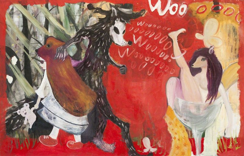 Li Quanshan, 'Learning wolf cry', 2013, Painting, Oil on canvas, Nuoart