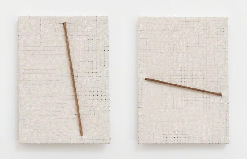 Jarbas Lopes, 'Pintura Elástica (diptych)', 2015, Painting, Wood and woven elastic bands, Baginski, Galeria/Projectos