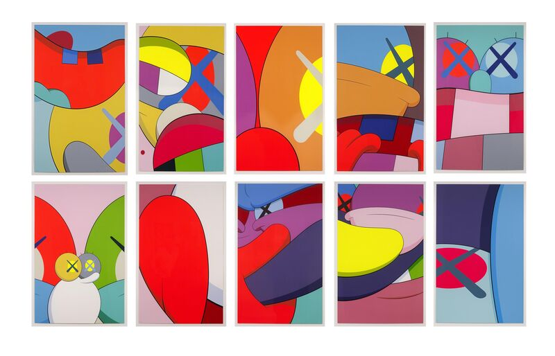 KAWS, 'No Reply (portfolio of 10)', 2015, Print, Screenprint, DELAHUNTY