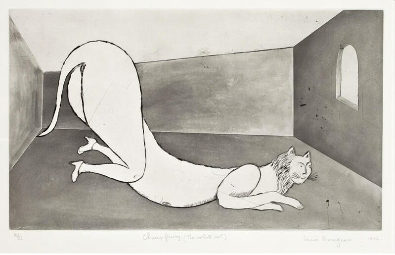 Louise Bourgeois, 'The White Cat (Champ Fleury)', 1994, Print, Dry-point, etching and aquatint on paper, Carolina Nitsch Contemporary Art