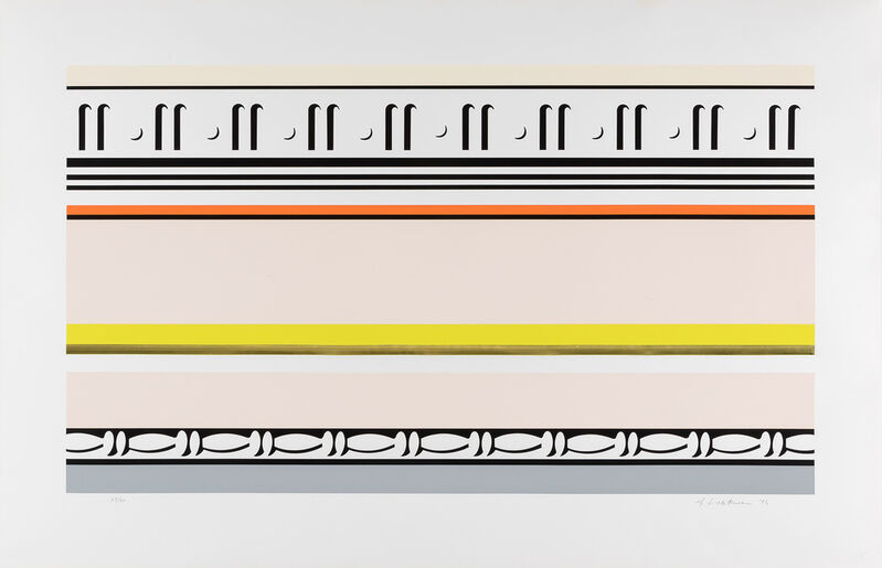 Roy Lichtenstein, 'Entablature VIII', 1976, Print, Color screenprint, 7 color litograph, collage with embossing on rives RBK, Rosenfeld Gallery LLC