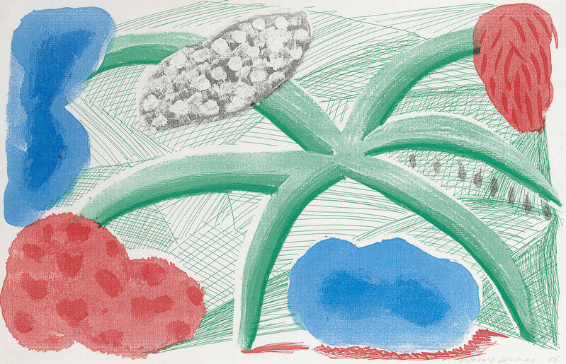 David Hockney, 'Landscape with a Plant', 1986, Print, A homemade print executed on a office colour copy machine on Arches paper, Oliver Clatworthy