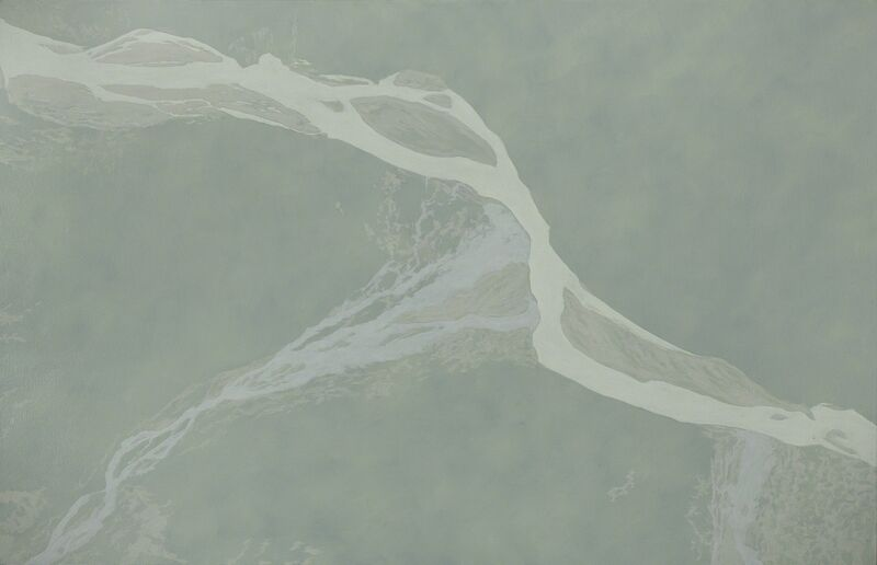 Leslie Reid, 'Kaskawulsh III 60°44'N; 138°04'W', 2014, Painting, Oil and graphite on canvas, LarocheJoncas