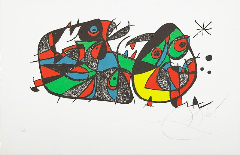 Joan Miró, 'Untitled (Miro Sculpteur-Italy)', 1974, Print, Lithograph in colors on paper, Rago/Wright