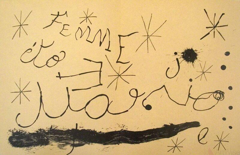 Joan Miró, 'Derriere le Miroir, no. 151-152, pg 18,19', 1965, Print, Stone Lithograph, ArtWise