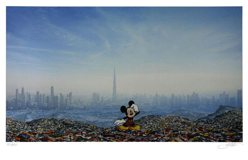 Jeff Gillette, 'Dubai Landfill Mickey', 2016, Print, Giclée on paper, Addicted Art Gallery