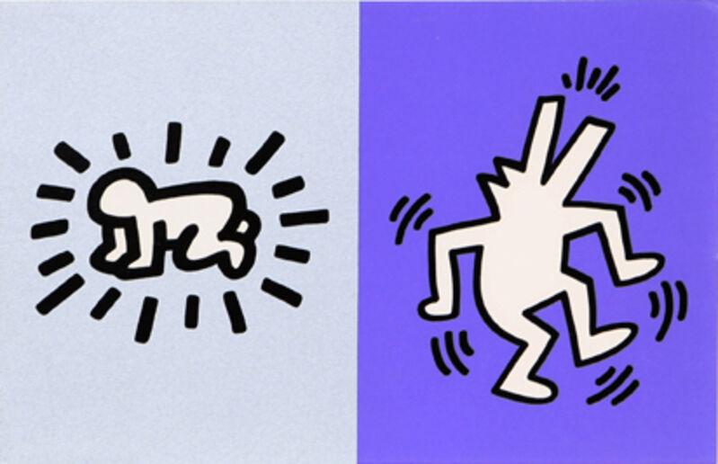Keith Haring, 'Memorial Tribute Invitation', 1990, Print, Silkscreen on Card Stock, RoGallery