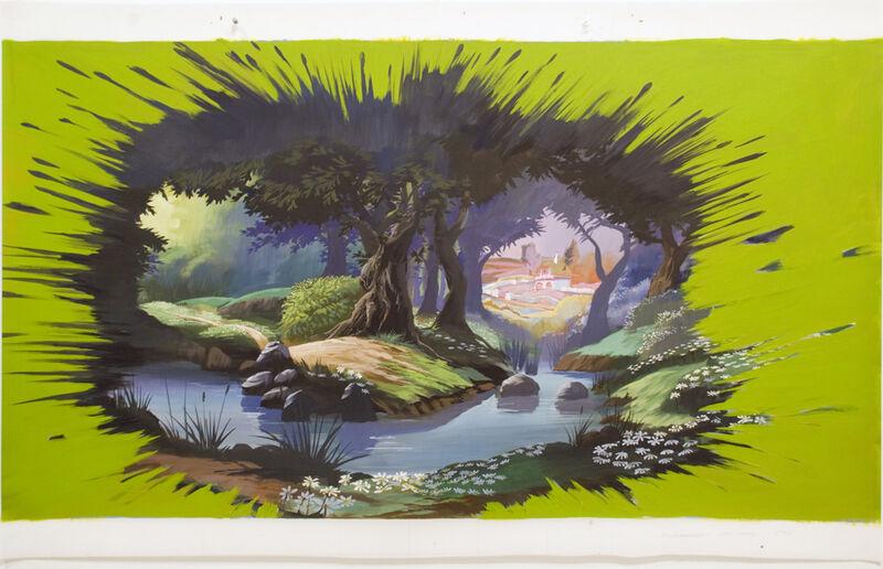 Adam Cvijanovic, 'Defrosted Study', 2010, Painting, Flash acrylic on mylar, Postmasters Gallery