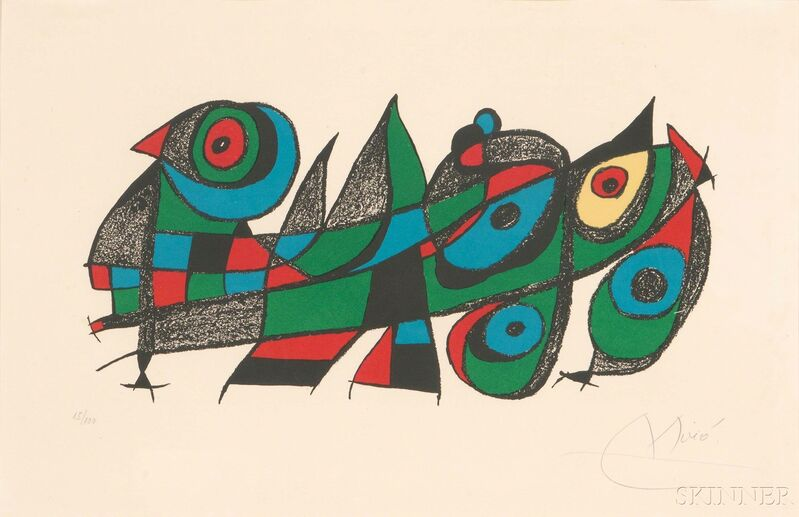 Joan Miró, 'Miró sculpteur', 1974, Drawing, Collage or other Work on Paper, Color lithograph on paper, Skinner