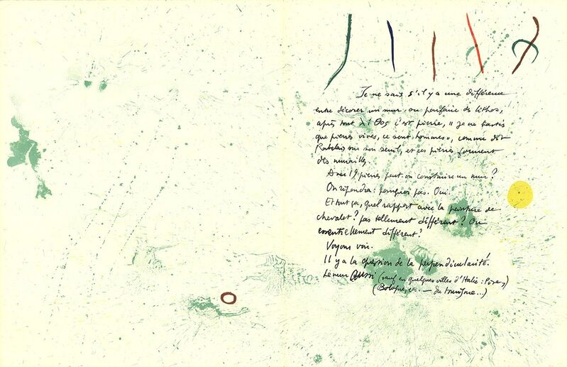 Joan Miró, 'Album 19 Original Lithographs pages 1,14', 1961, Print, Stone Lithograph, ArtWise
