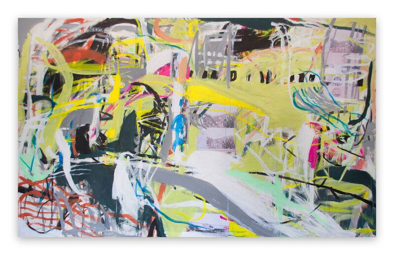 Macha Poynder, 'A Crapshoot of Luck (Abstract painting)', 2015, Painting, Acrylic and collage on canvas, IdeelArt