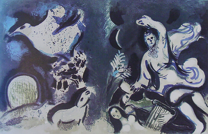 Marc Chagall, 'Cover Drawings for the Bible ', 1960, Print, Lithograph, Georgetown Frame Shoppe