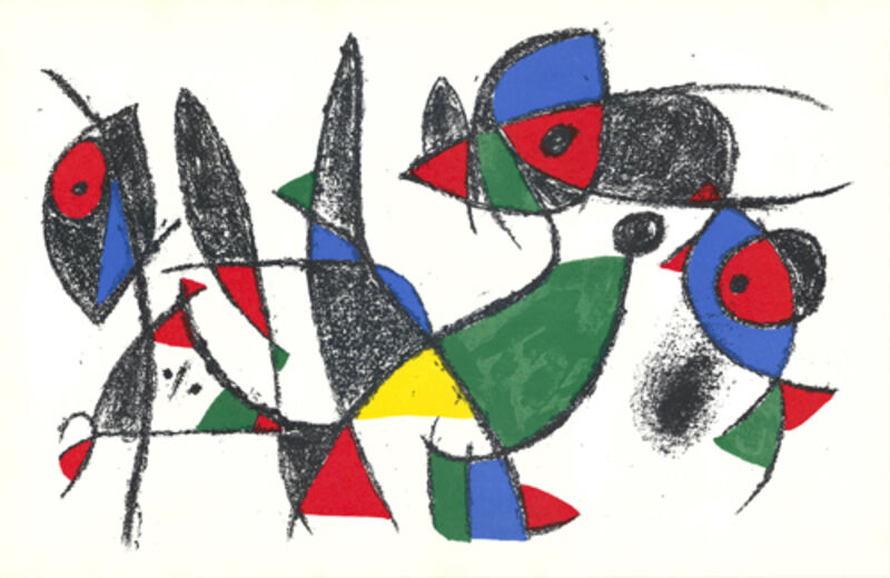 Joan Miró, 'untitled', 1975, Print, Color lithograph, Sylvan Cole Gallery