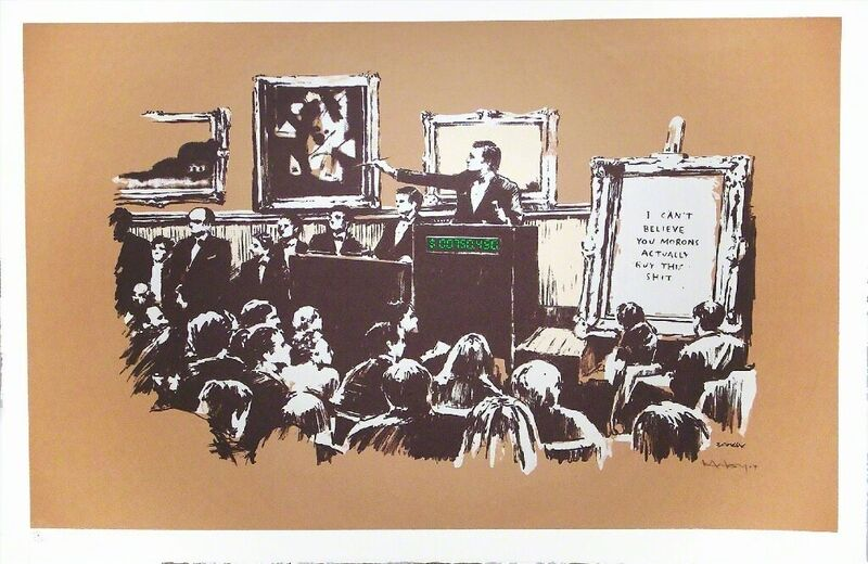 Banksy, 'Morons (Sepia) ', 2007, Print, Screenprint on wove paper, signed and numbered, Pop Fine Art
